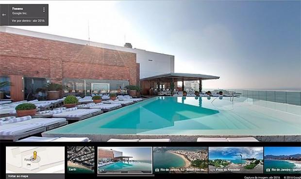 Com a tecnologia, é possível conhecer ambientes internos de hotéis, restaurantes e bares / Reprodução