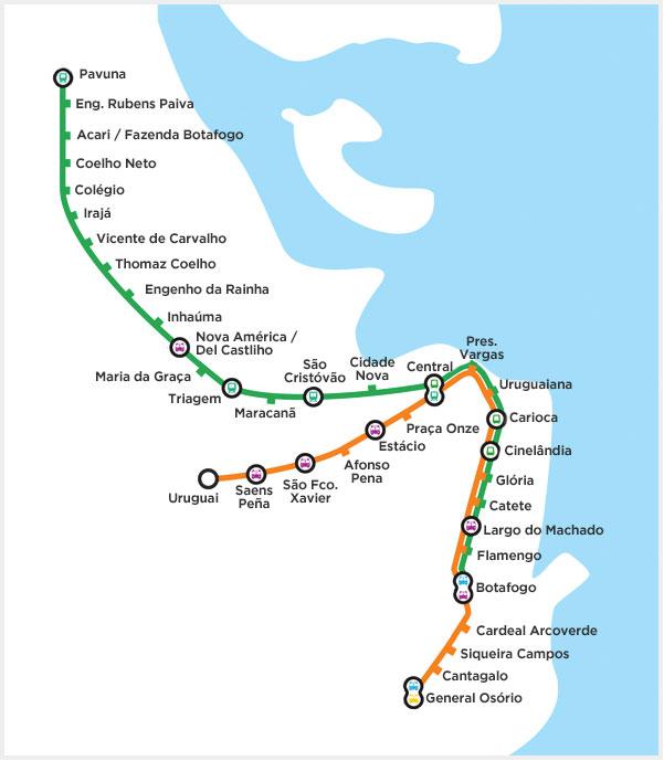 Rio de Janeiro Metro Map