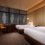Quarto do hotel do Aeroporto de Abu Dhabi; Aerotel carioca deverá ter mesmo modelos de aposentos